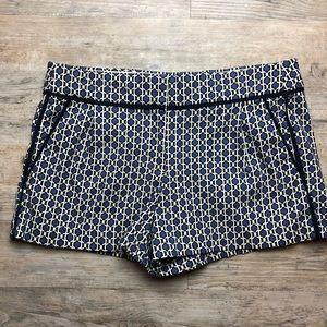 J Crew blue printed shorts